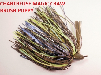 Brush Puppy Jigs - Chartreuse GP - Chartreuse Magic Craw