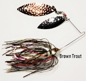 STC Natural Spinnerbaits - Brown Trout
