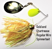 STC River Thump Spinnerbait - Gold and Chartreuse