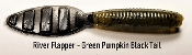 STC River Flapper - Green Pumpkin Black Tail