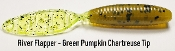 STC River Flapper - Green Pumpkin Chartreuse Tail